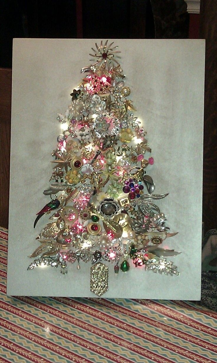 I finally made my jewelry tree out of a lot of my mother in law's and mother's old costume jewelry.