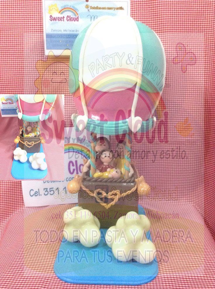Hermoso Globo personalizado de pasta francesa... Sweet Cloud, siempre para ti... ❤️ Detalles con amor y estilo. #pastafrancesa