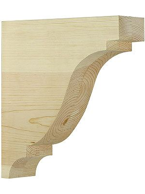 Large pine colonial corbel 11 x 10 x 3 wood brackets for Large exterior corbels