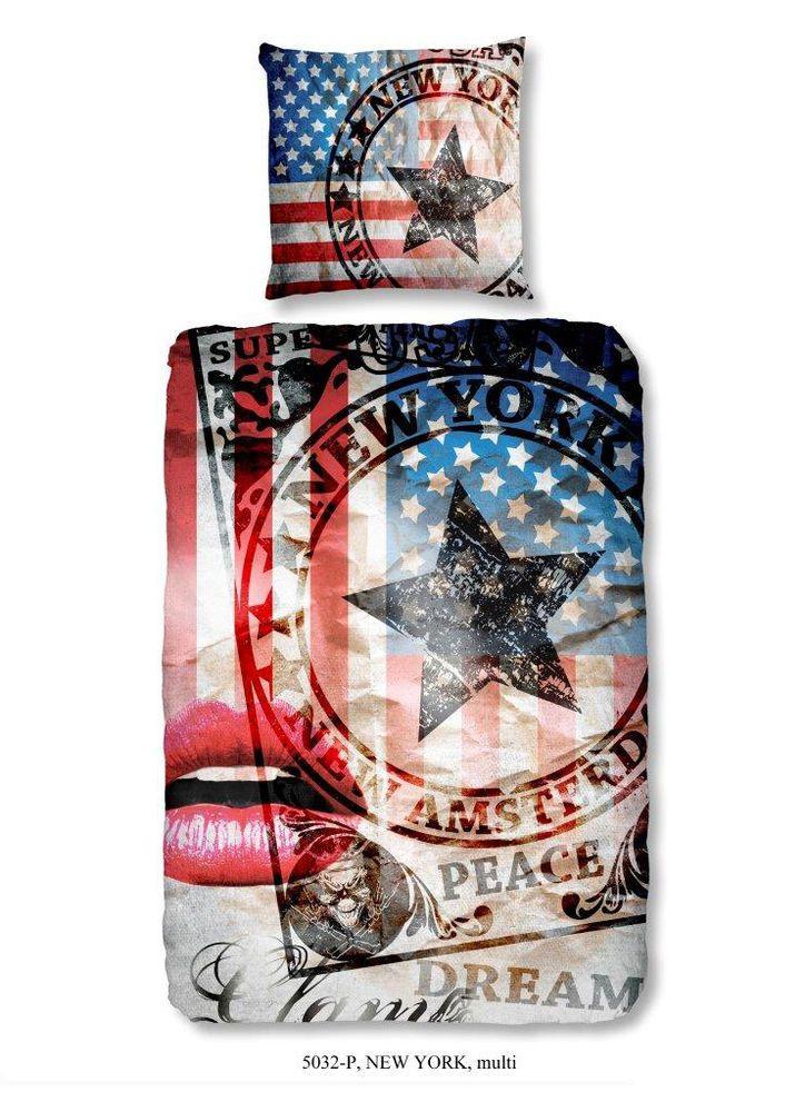 Bettwäsche 135x200 cm Baumwolle USA Flagge Amerika Vintage Stern Mädchen Jungen