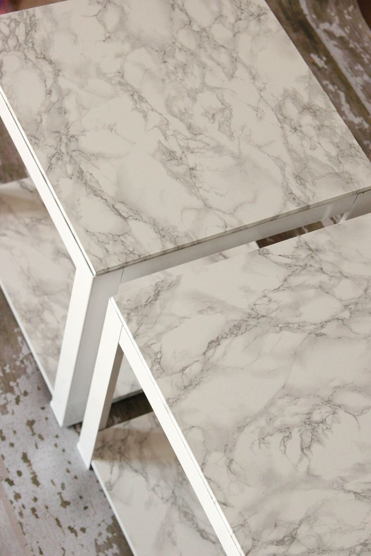 Clearance Target Tables Made Into Faux Marble Tables With