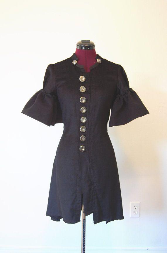 Gothic high fashion steampunk corduroy frock coat by hhfashions, $75.00