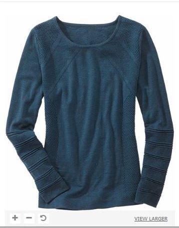 Title Nine 99 Merino Sweater in Venetian Blue