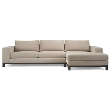 Calypso 2 pc chaise sectional in gibson fabric found at for Jcpenney sectional sofas