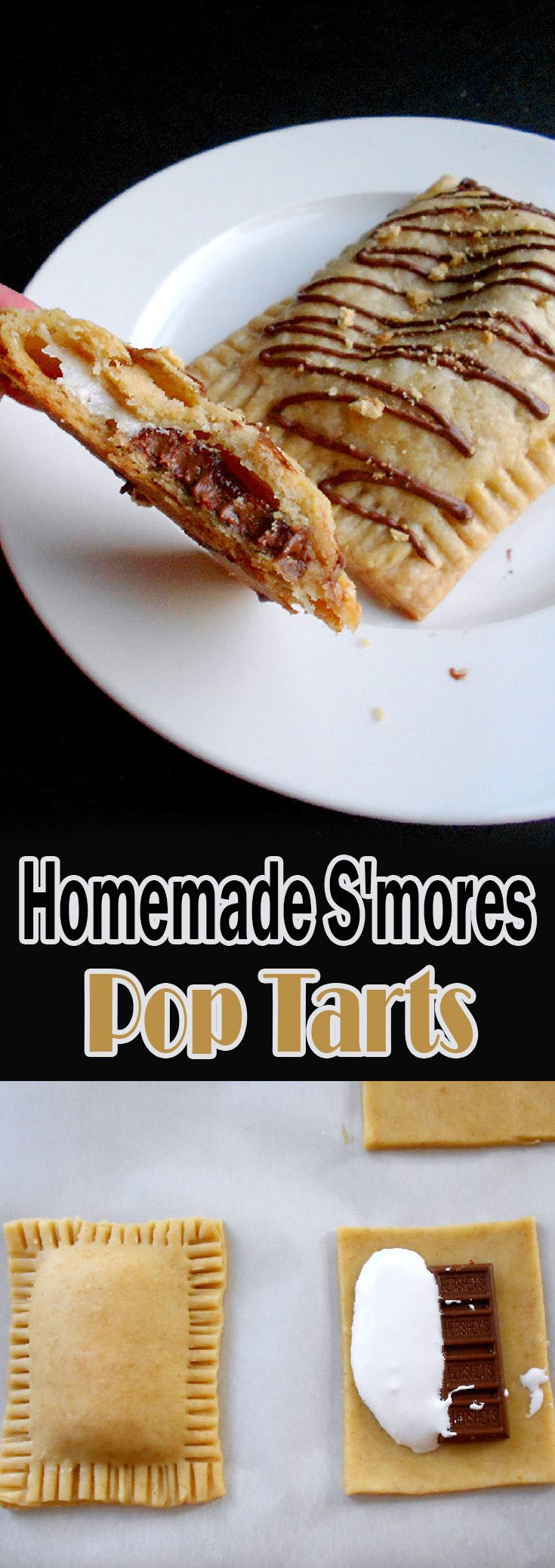 Homemade S'mores Pop Tarts                                                                                                                                                                                 More