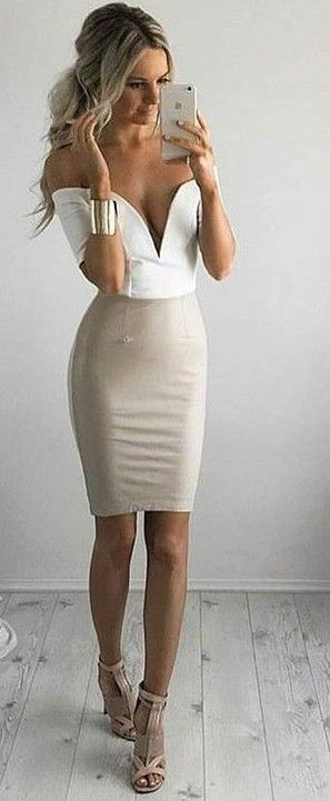 #summer #australian #label #outfits | White and Beige Dress