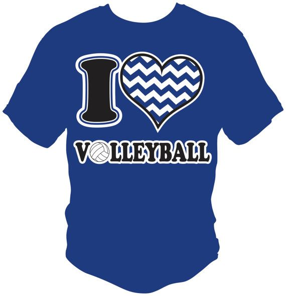 I Love Heart Volleyball TShirt by A1Graphics on Etsy, $15.00