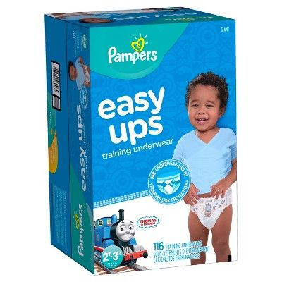 Pampers Easy Ups Boys Training Pants Giant Pack 2T-3T (116 ct)