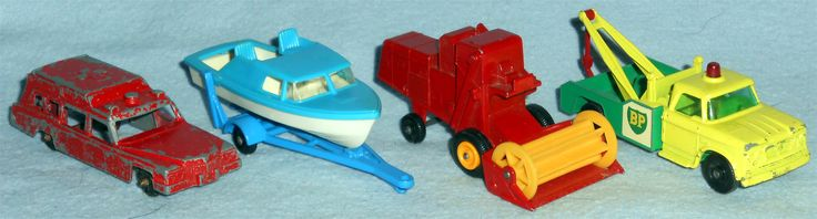 Die Cast - Summer 2016 Tootsie Toy - Ambulance Matchbox - Boat and Trailer Matchbox - Combine Harvester Matchbox - Dodge Wreck Truck