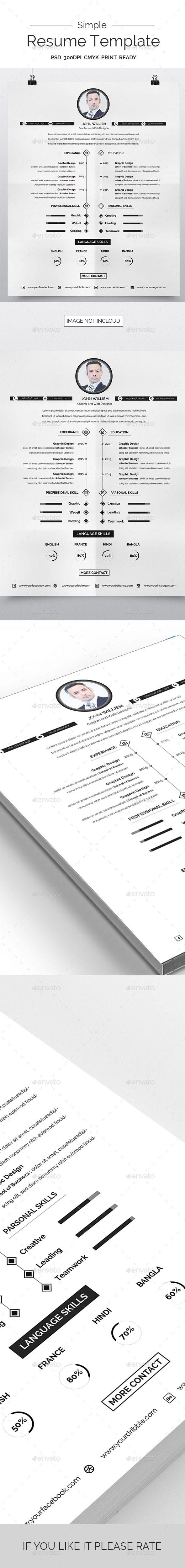 Best 25 Simple resume template ideas on Pinterest Simple cv