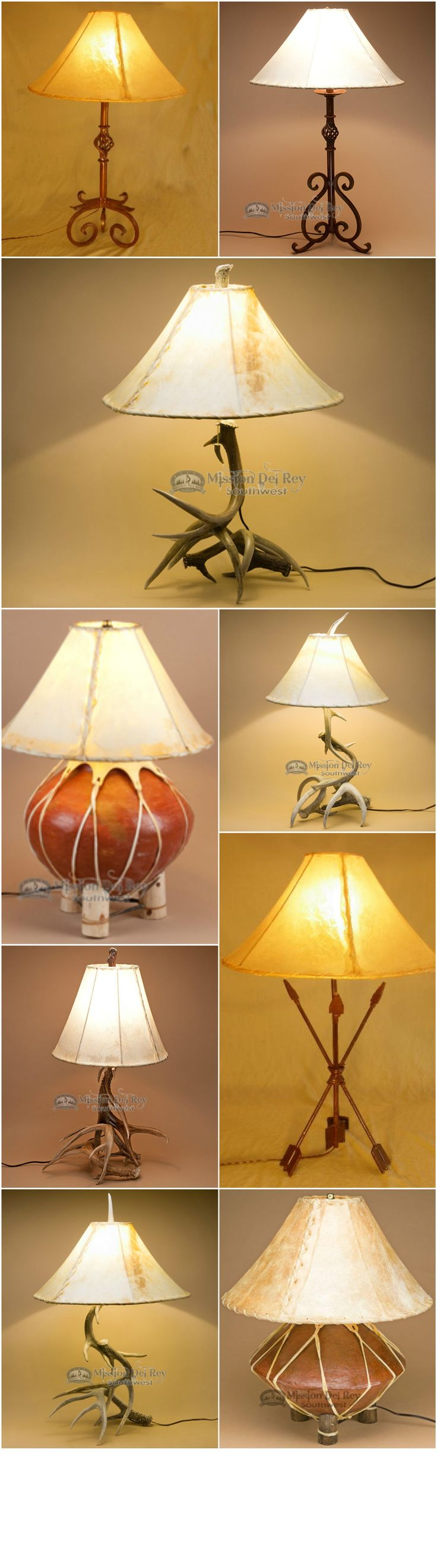 Find the perfect lamp for rustic home decor. Choose from a variety of genuine deer antler lamps, wrought iron lamps, and pottery lamps. Perfect for dressing up any space with rustic flare, our southwestern lamps allow you to keep your rustic decor theme consistent throughout the home. See all of our rustic and southwestern lamps at http://www.missiondelrey.com/southwestern-lamps/