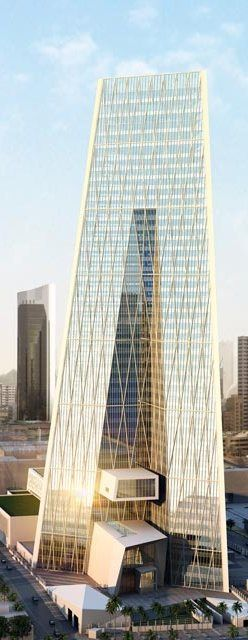 Central Bank of Kuwait, Kuwait designed by HOK :: 42 floors, height 240m