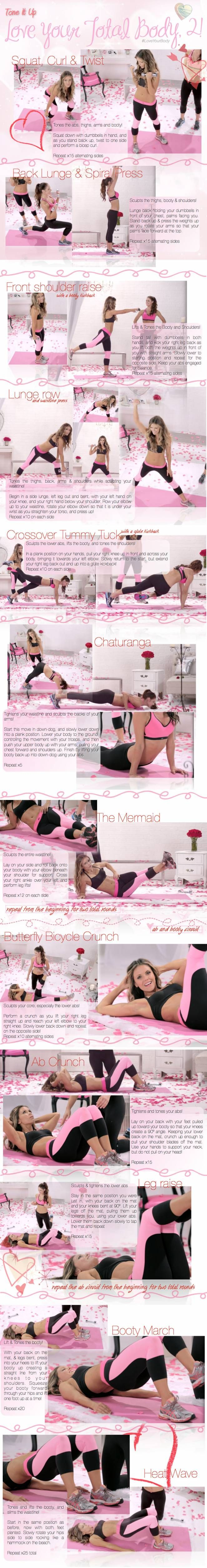 Tone it up - Love your total body #2 workout