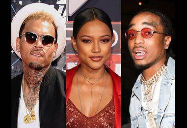 Chris Brown, Karrueche Tran and Migos' Quavo Spark Love Triangle Drama