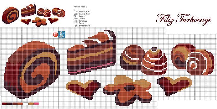 Kurabiyelerin arasında değişik tatlar da varmış :) Ama hepsi çikolatalı :)) Önce ortaya karışık getirdim, servisi de yapacağım :)) Designed by Filiz Türkocağı...