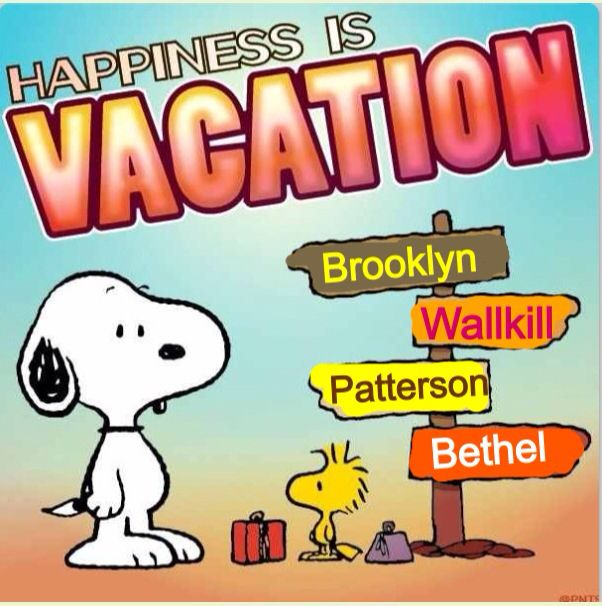 Brooklyn, Wallkill, Patterson & Bethel.....