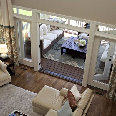Best 25 two story deck ideas on pinterest raised deck for Sliding glass doors onto deck