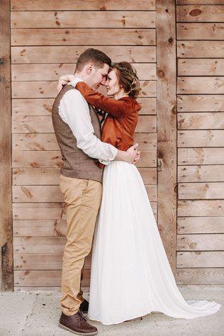 Стильная рустикальная свадьба, встреча жениха и невесты - The-wedding.ru