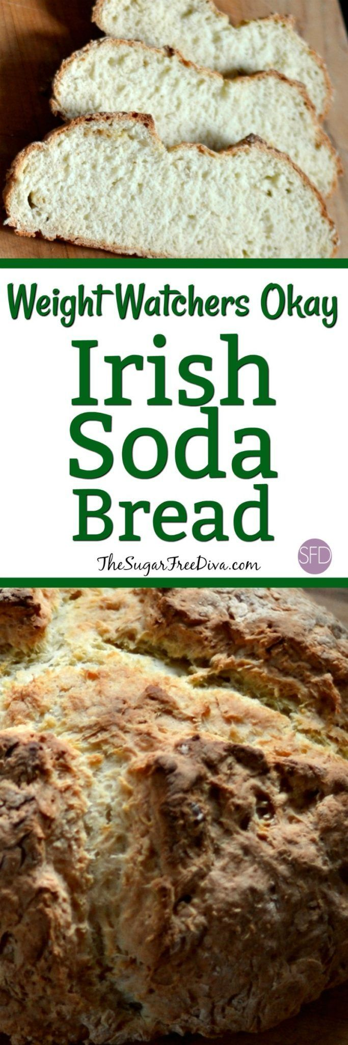 Weight Watchers Okay Irish Soda Bread--This Irish Soda Bread is Weight Watchers Okay and is also the perfect fall bread recipe that tastes good as well. The perfect appetizer, sandwich bread, or even special breakfast bread that is delicious and yummy!