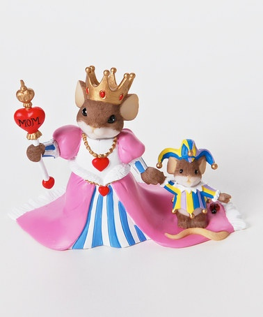 Take a look at this Queen Mom Rules Mouse Figurine by Charming Tails on #zulily today!