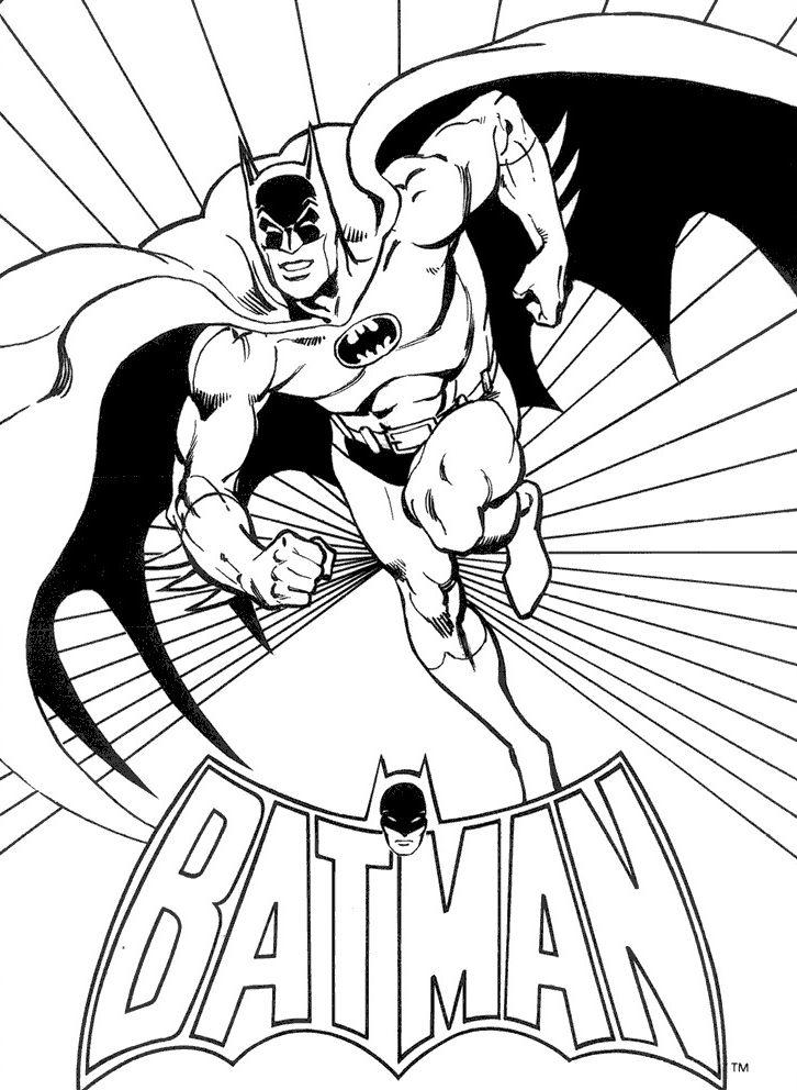 Gambar Mewarnai Batman Untuk Anak Anak Dengan Gambar Halaman