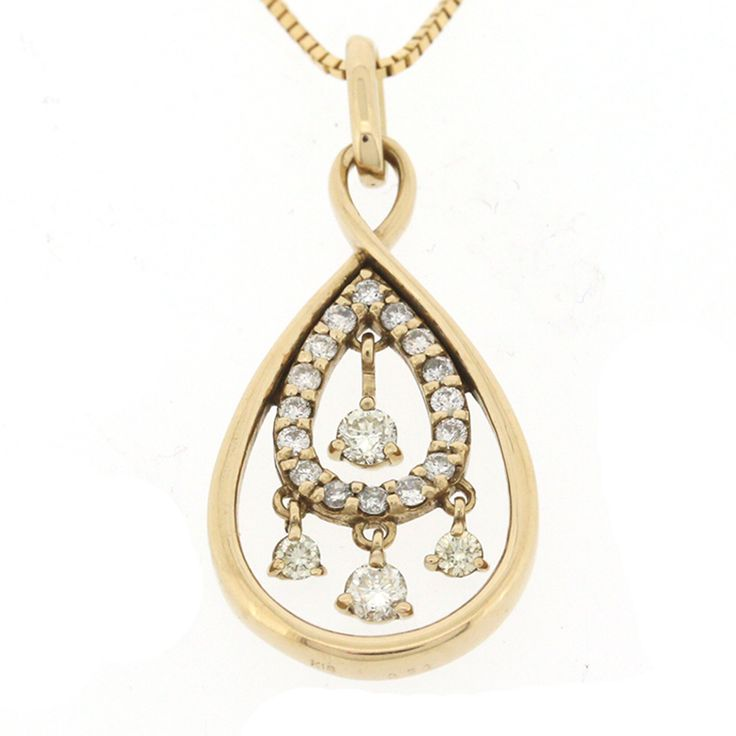 【商品名】K18 ゴールド ダイヤ 0.30ct ネックレス 鑑別書【価格】¥36,800【状態】A  多少の傷・汚れが見受けられますが全体的には綺麗な状態の中古商品です。