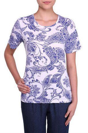 Walmart, Alia Women's Short Sleeve Crewneck T-Shirt, $10.97,