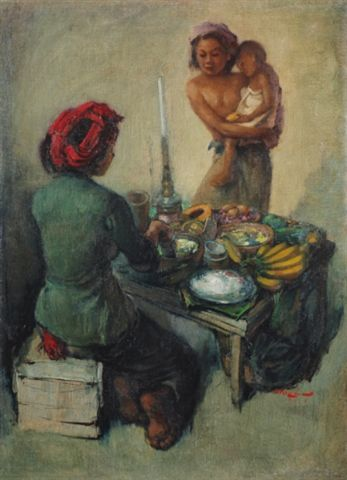 Lee Man Fong - Rojak seller (sold for $ 202,860)