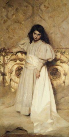 Tallone, Cesare, Ritratto della figlia Irene, 1897, inv. 1126
