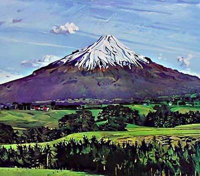 Mt Taranaki by Marianne Muggeridge for Sale - New Zealand Art Prints