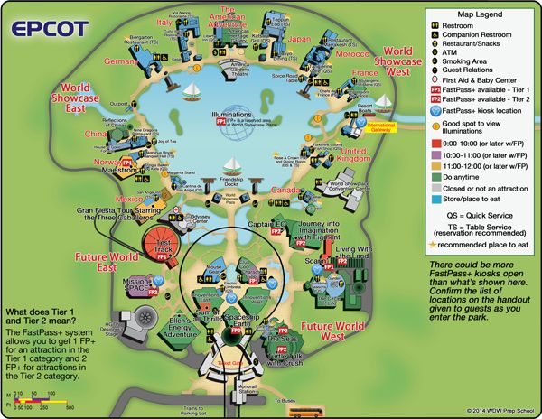 Guide to all Epcot attractions | WDW Prep School