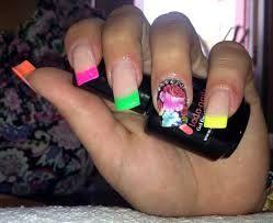 uñas de acrilico de colores - Buscar con Google