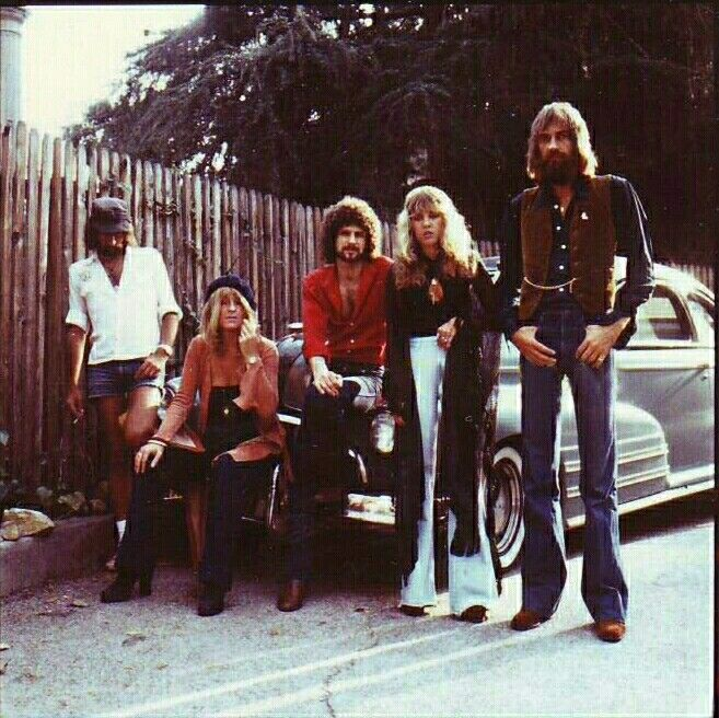 Fleetwood Mac, 1976.  Goodness! Mick's long legs!