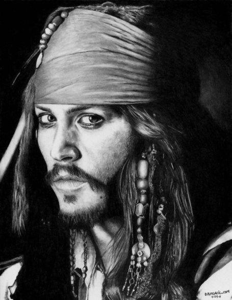 Photorealistic Drawings - Johnny Depp