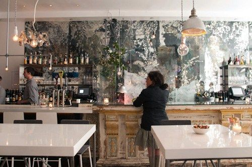 antiqued mirror tiles backsplash | backsplash decor gallery