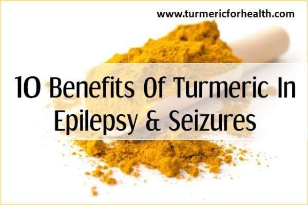 Turmeric helps epilepsy- 1. Turmeric has anti-epileptogenic effect 2. It prevents convulsions and seizures 3. Turmeric has neuroprotective property 4. It influences brain chemicals 5. Compounds of turmeric oil have anti-convulsant activity 6. It protects from cognitive and behavioural defects 7. It remedies depression 8. It works in synergy with anti-epileptic drugs 9. It can attenuate side effects of anti-epileptic drugs 10. Turmeric helps attenuate severity of risk factors of seizures