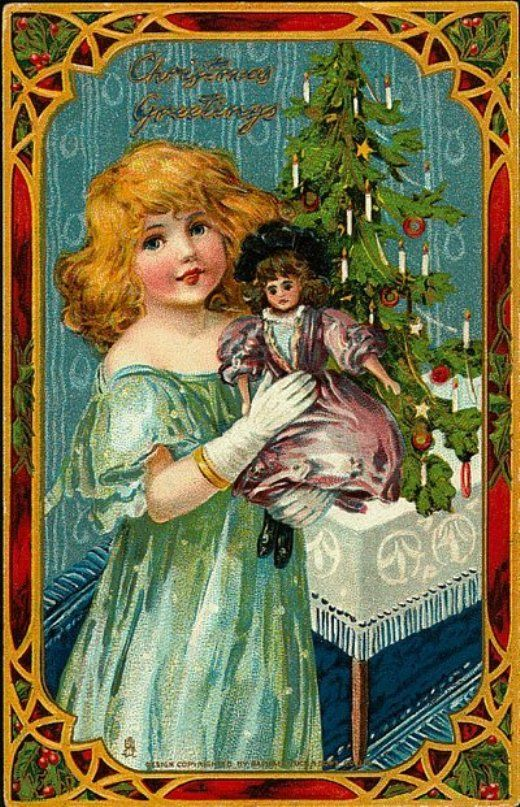 Рождественскую открытка ретро
