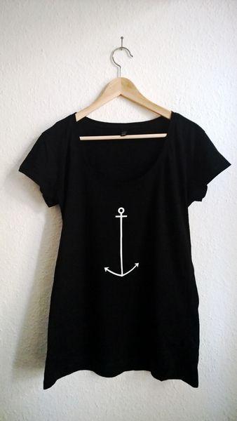 Das Shirt mit Anker Print ist aus 100% kba Baumwolle gefertigt