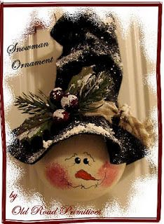 Snowman ornament made from lightbulb