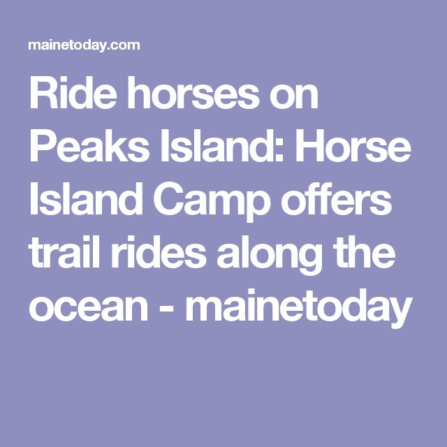Ride horses on Peaks Island: Horse Island Camp offers trail rides along the ocean - mainetoday