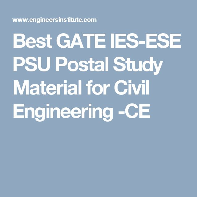 Best GATE IES-ESE PSU Postal Study Material for Civil Engineering -CE