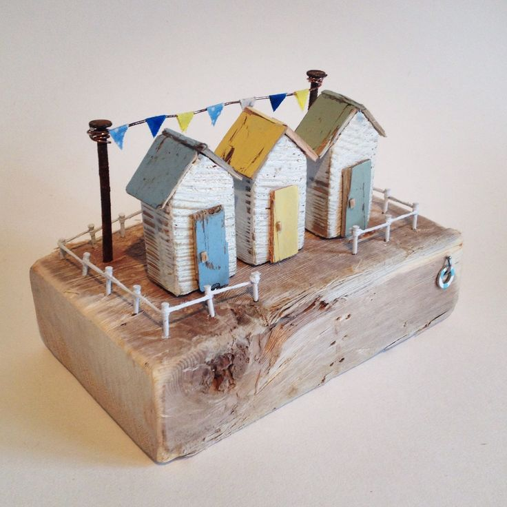New 'Easter Huts' handmade from driftwood and reclaimed materials.   #easter #be…