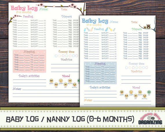 Baby Log 0 6 Months Nanny Log Baby S Day Schedule Etsy In 2021 Baby Schedule Template Baby Schedule New Baby Products