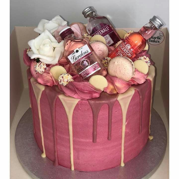 Pink Gin Cake By Charlie Bakes 21st Birthday Cakes 25th