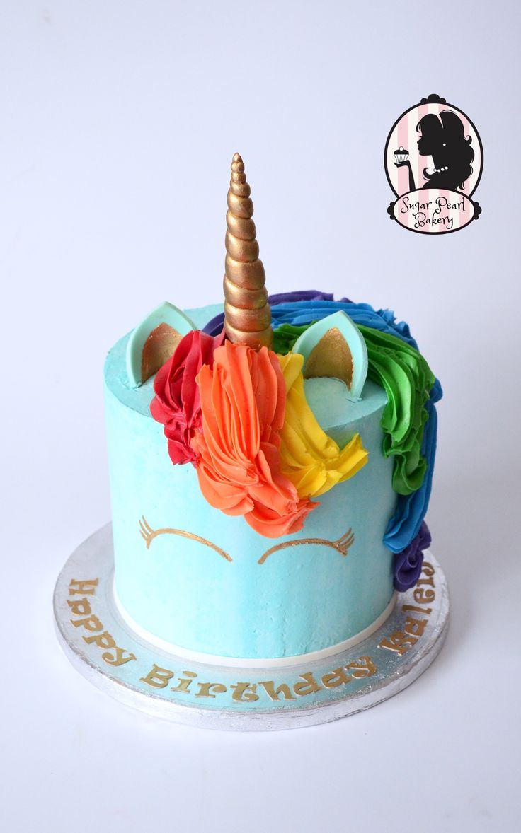 Rainbow dash unicorn birthday cake my little pony