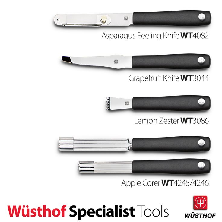 wsthof kitchen tools asparagus peeling knife grapefruit knife lemon zester and apple corer