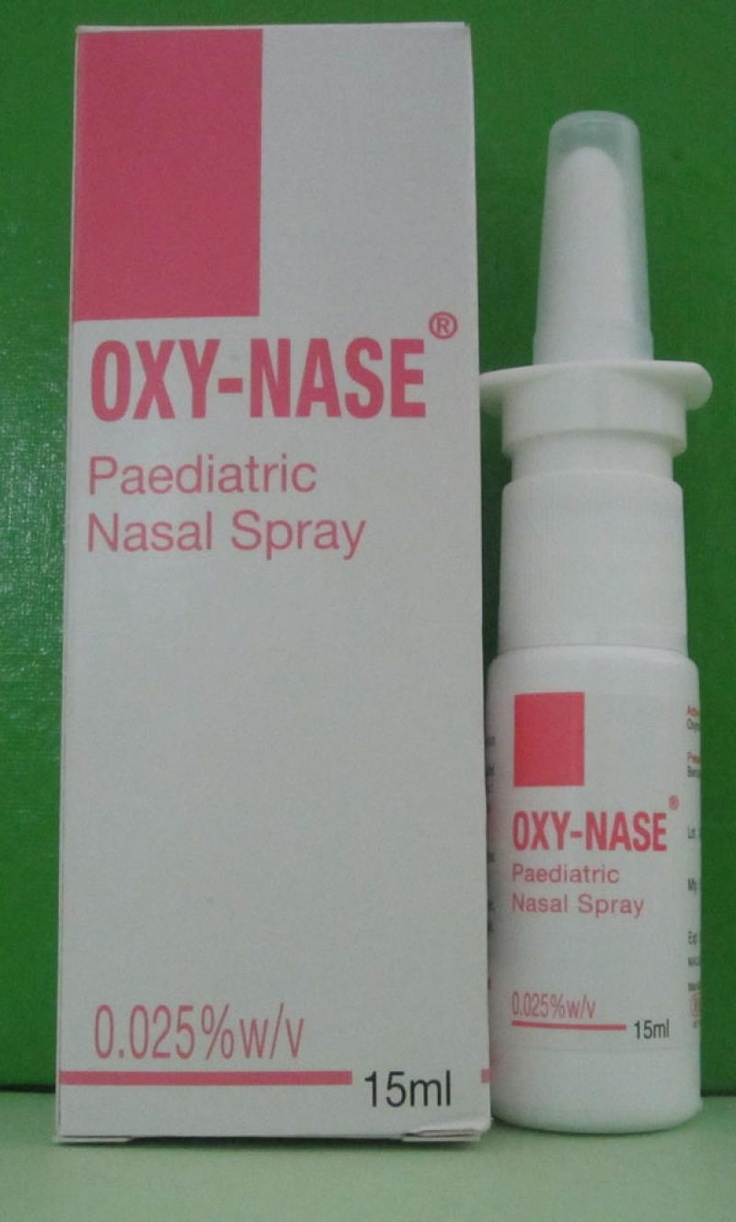 Oxy Nase Paediatric Spray Nasal Decongestant Recommended