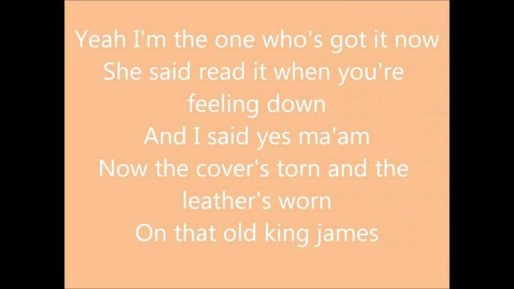 That Old King James by Scotty McCreery with lyrics