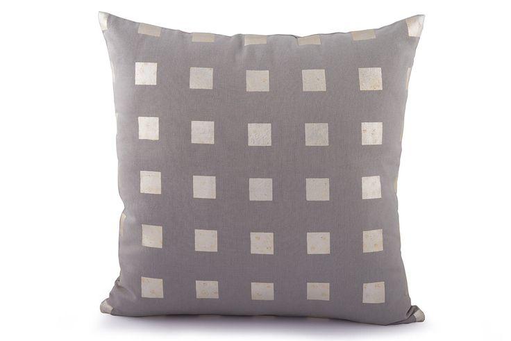 Squares Foil Printed Cushion Cover by Suraaj Linens