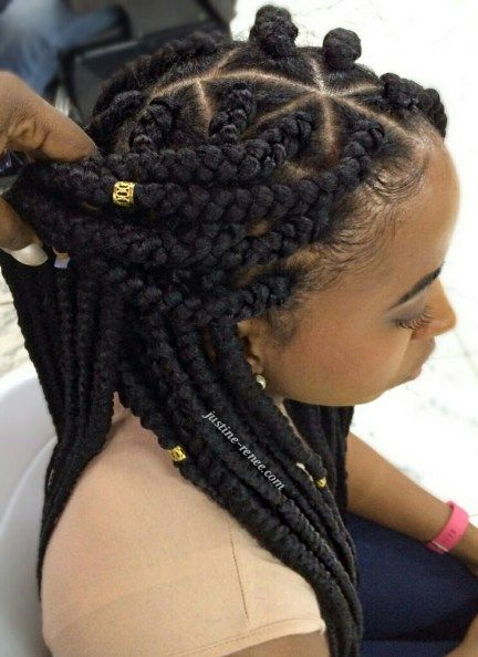Jumbo Box Braids Box Braids Styling Hair Styles Girls